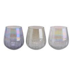 acquista online Porta tealight in vetro assortito verde, grigio e trasparente