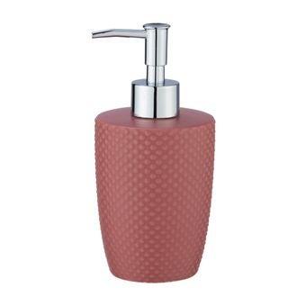Distributeur de savon céramique rose punto