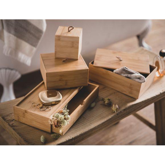 Scatola in bamboo con cassetto
