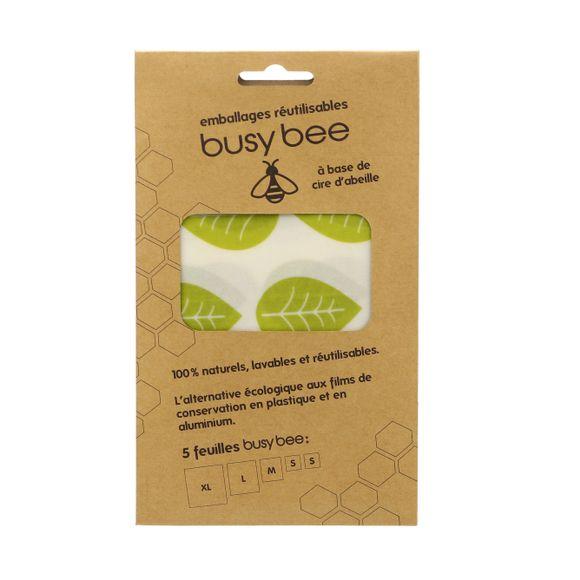 Set di 5 fogli per la conservazione alimenti in cera d'api
