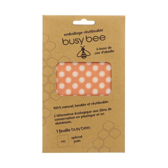 Emballage réutilisable busy bee cire d'abeille x1 feuille XL