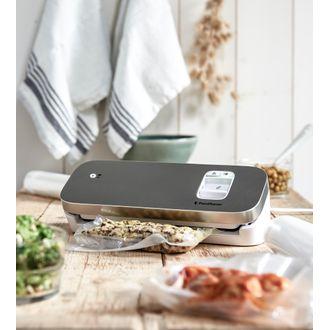 Food saver appareil mise sous vide compact blanche/argent