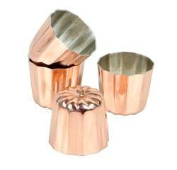 compra en línea Juego de 4 moldes canele de cobre para cupcakes (3,5 cm)