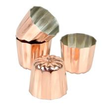 Achat en ligne Lot de 4 moules à cannelés en cuivre 3,5cm
