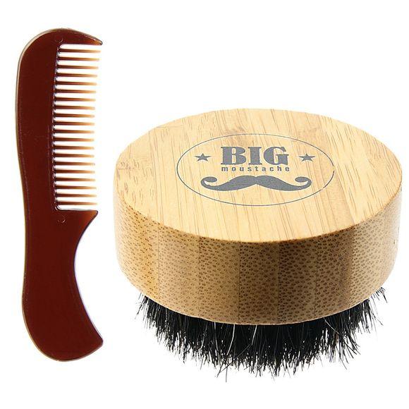Coffret peigne et brosse à barbe