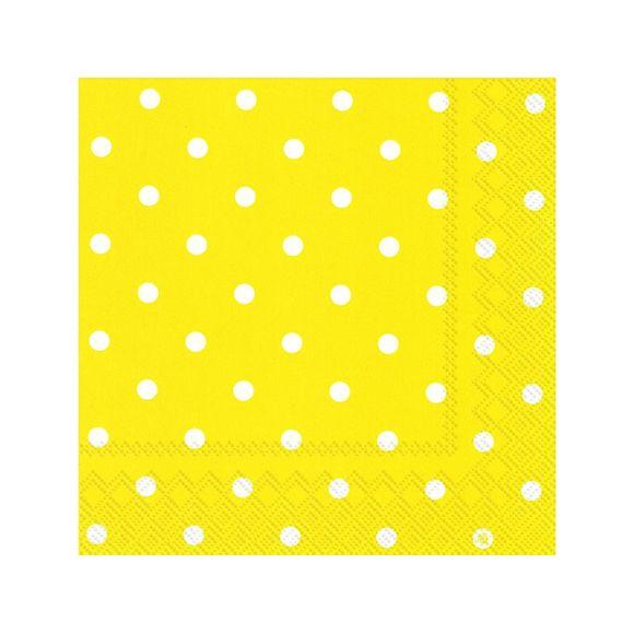 Confezione di 20 tovaglioli di carta a pois, 33x33cm