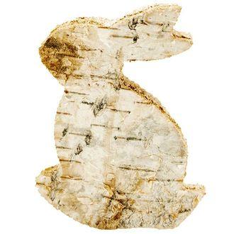 3 lapins bois et écorce 4x5 cm