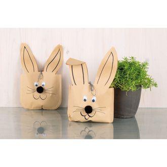 Sacchetti di carta a forma di coniglio, 3pz.
