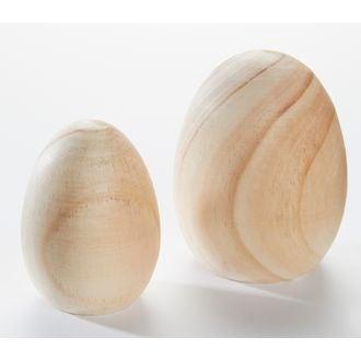 Uovo in legno di pino 10,3cm