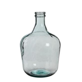 Vase en verre recyclé transparent h42x27cm