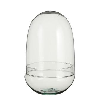 Terrarium oeuf en verre h30x19cm
