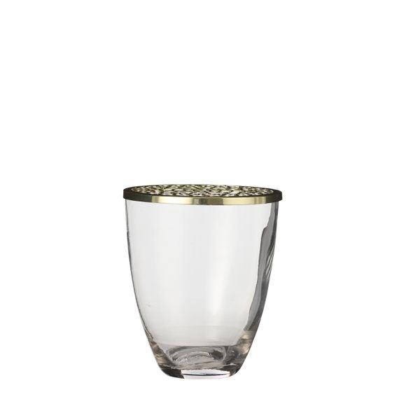 Vase Lodi en verre transparent H12x10cm