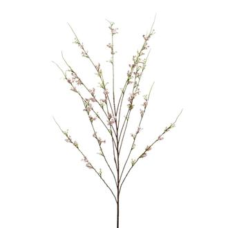 Branche de fleurs de cerisier artificielle rose 120cm