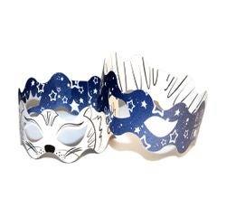 compra en línea 2 máscaras coronas de gato para colorear (papel)