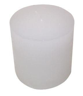 Bougie cyl 7x11cm blanc