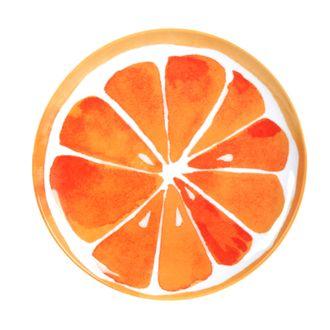 Assiette melamine citrus 18cm