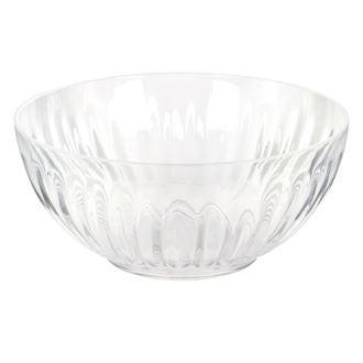 Saladier acrylique transparent flame 25cm