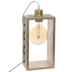 Achat en ligne Lampe bois rectangle H28