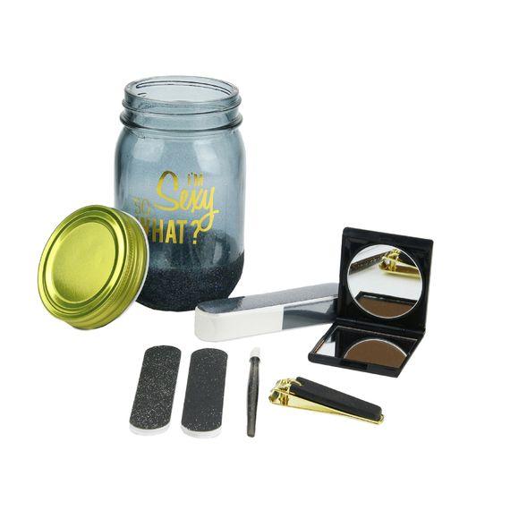 Coffret jar beauté 6 pièces noir