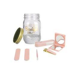 Achat en ligne Coffret jar beauté 6 pièces blanc
