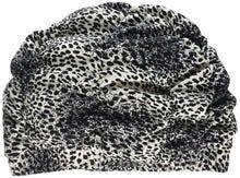 Achat en ligne Bonnet de douche à motif léopard noir et blanc