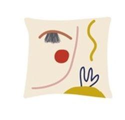 Achat en ligne Coussin visage multico pratique artistique 40x40cm
