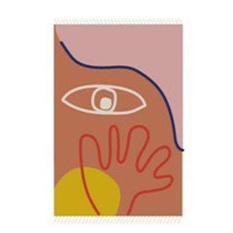 Tapis visage multico pratique artistique 120x180cm