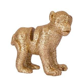 4 marque-places singe resine paillettes dorées 5.5x5.5cm