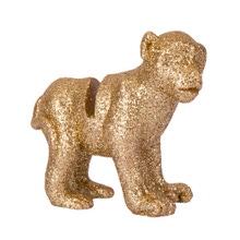 Achat en ligne 4 marque-places singe resine paillettes dorées 5.5x5.5cm