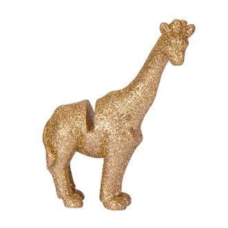 4 marque-places girafe resine paillettes dorées 8.5x6.5cm