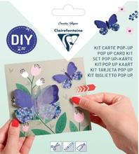 Achat en ligne Kit Pop-Up carte pliée 13,5x13,5 avec enveloppe Remerciements