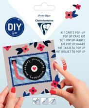 Achat en ligne Kit Pop-Up carte pliée 13,5x13,5 + enveloppe Saint-Valentin