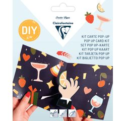 Achat en ligne Kit Pop-Up carte pliée 13,5x13,5+ enveloppe Ready for the party