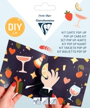 Achat en ligne Kit Pop-Up carte pliée 13,5x13,5+ enveloppe Ready for the party