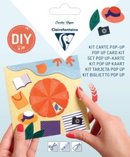 Achat en ligne Kit Pop-Up carte pliée 13,5x13,5+ enveloppe Vacances