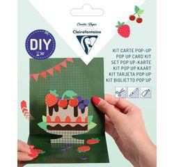 Achat en ligne Kit Pop-Up carte pliée 13,5x13,5+ enveloppe Joyeux anniversaire