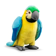 Achat en ligne Peluche Animigos perroquet bleu