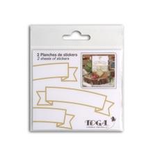 Achat en ligne 2 planches stickers bannières dorée mat