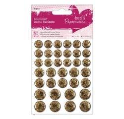 Achat en ligne Embellissements ronds glitter dorée (36pcs)