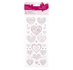 Achat en ligne Stickers cœur glitter