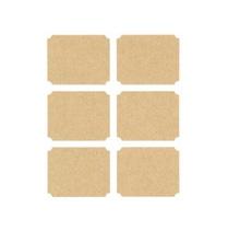 Achat en ligne 6 Autocollants papier kraft forme étiquette