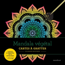 Achat en ligne Livre à gratter Mandala végétal