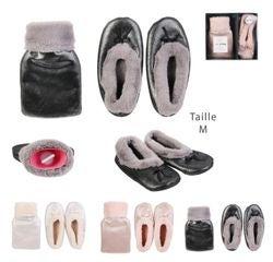 Achat en ligne Bouillotte 500ml avec chaussons blanc taille M