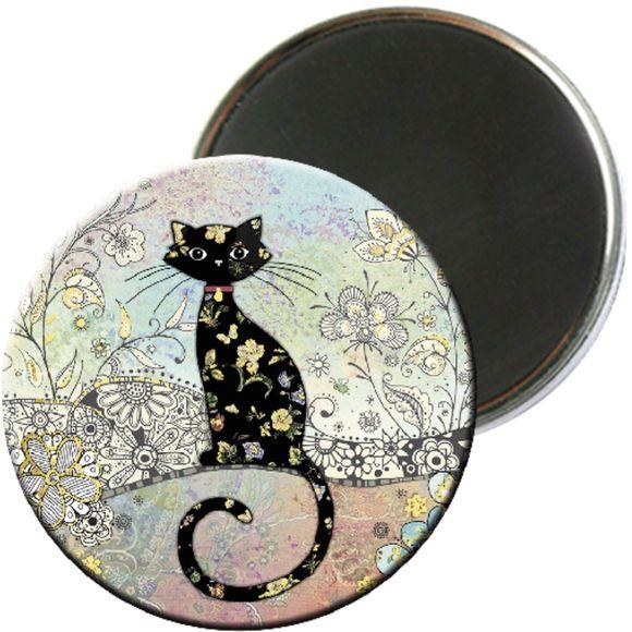 Achat en ligne Magnet rond amys chat bleu