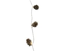 Achat en ligne Guirlande micro led  pommes de pin lumineuse 190cm