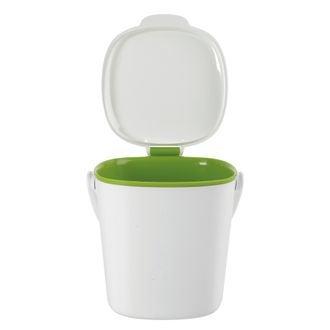 Bac à compost de cuisine blanc 2,8l