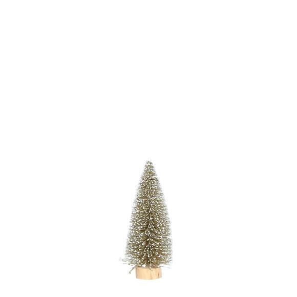 Achat en ligne Sapin de noël or pailleté 15 cm
