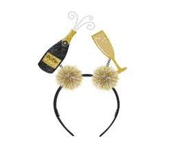 Achat en ligne Serre-tête champagne et flûte