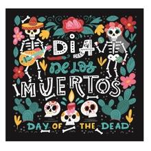 Achat en ligne 20 serviettes dia de los muertos en papier