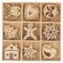Lot de 9 mini formes en bois noel à décorer 27 pieces